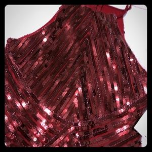 Red sequins cocktail dress never worn